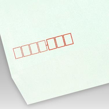カラー ミズ封筒の写真見本