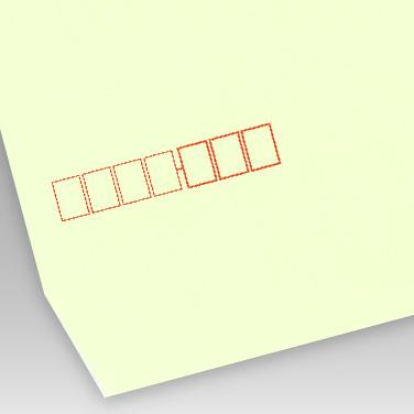 パステル ウグイス封筒の写真見本