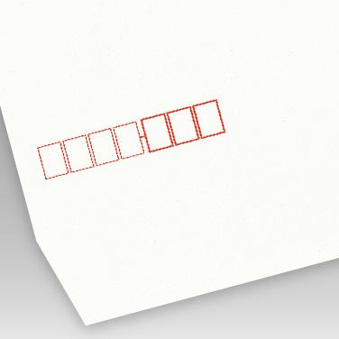 白 プライバシー保護封筒の写真見本