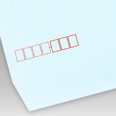 パステル ブルー封筒の写真見本