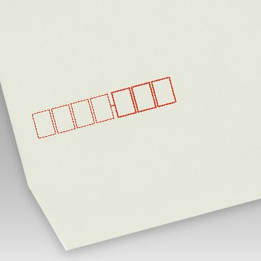 パステル グレー封筒の写真見本