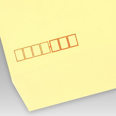 カラー クリーム封筒の写真見本