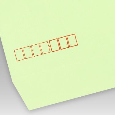 カラー ウグイス封筒の写真見本
