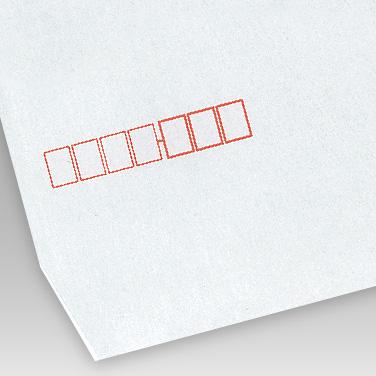カラー スカイブルー封筒の写真見本