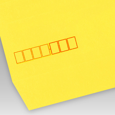 カラー イエロー封筒の写真見本