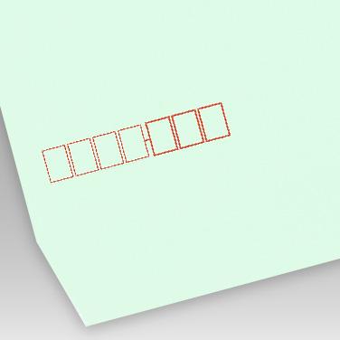 パステル グリーン封筒の写真見本