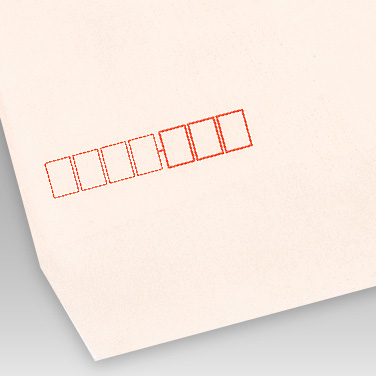 パステル ピンク封筒の写真見本