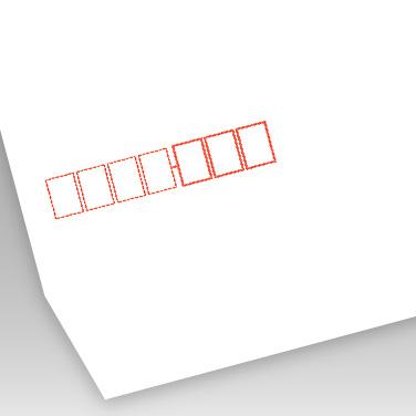 パステル ホワイト封筒の写真見本