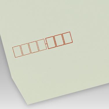 カラー グレー封筒の写真見本
