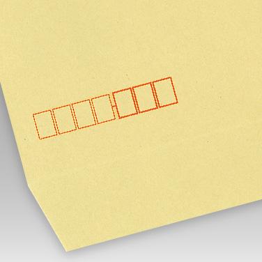茶 クラフト紙封筒の写真見本